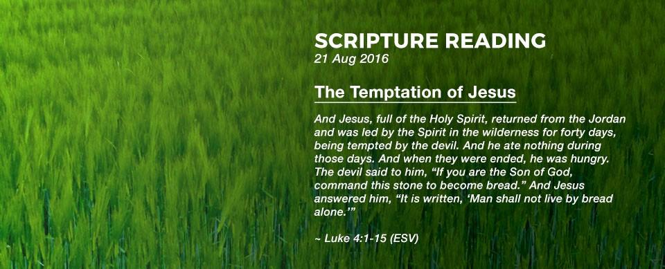 Church in Singapore The Temptation of Jesus
