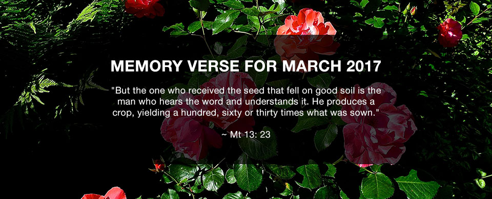 Church in Singapore Memory Verse March 2017