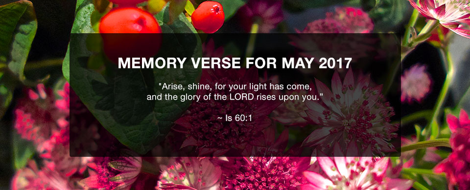 Church in Singapore Memory Verse May 2017