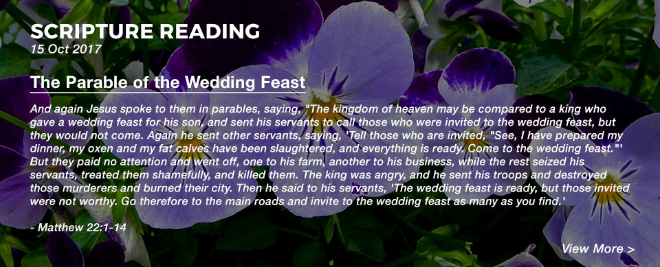 Church in Singapore The Parable of the Wedding Feast