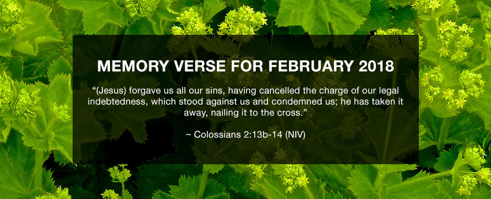 Church in Singapore Memory Verse February 2018