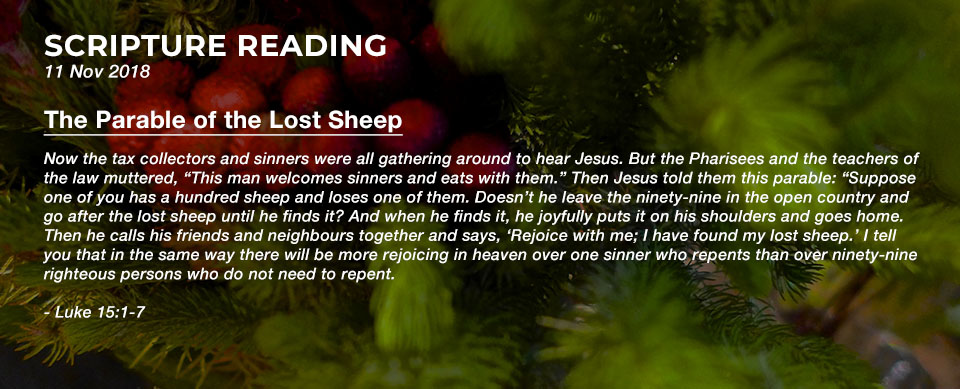 Church in Singapore The Parable of the Lost Sheep