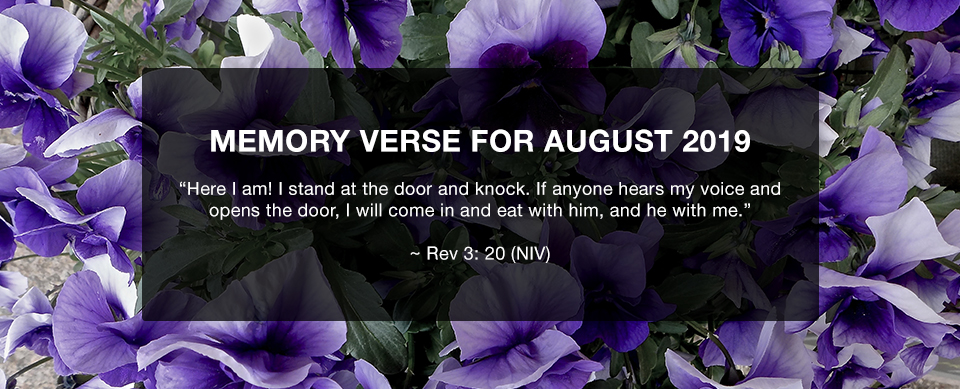 Church in Singapore Memory Verse August 2019