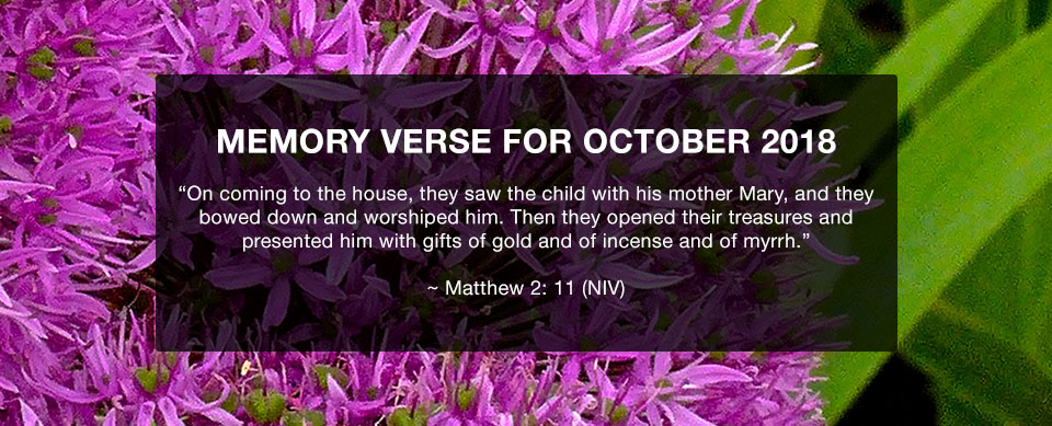 Church in Singapore Memory Verse October 2019
