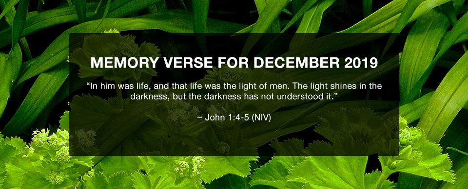 Church in Singapore Memory Verse December 2019