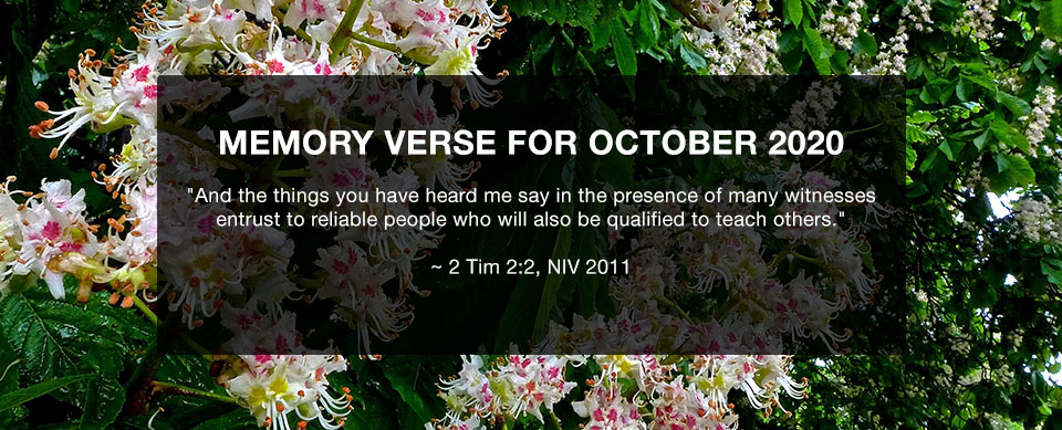 Church in Singapore Memory Verse for October 2020