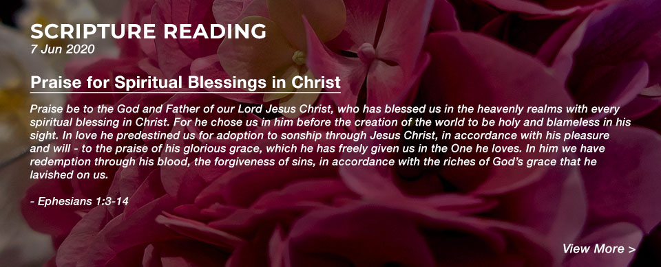 Church in Singapore Praise for Spiritual Blessings in Christ