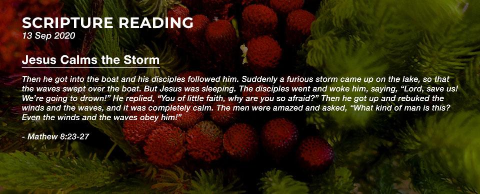 Church in Singapore Jesus Calms the Storm