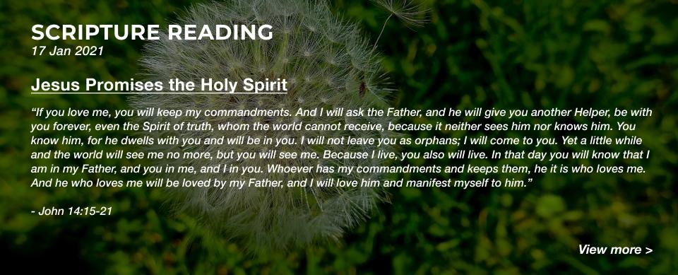 Church in Singapore Jesus Promises the Holy Spirit
