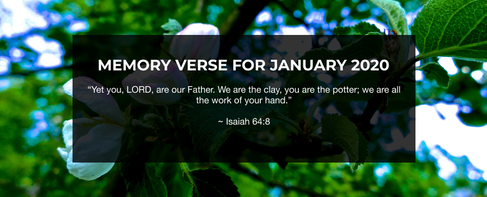 Church in Singapore Memory Verse for January 2020