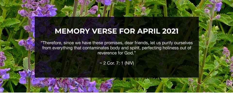 Church in Singapore Memory Verse for April 2021