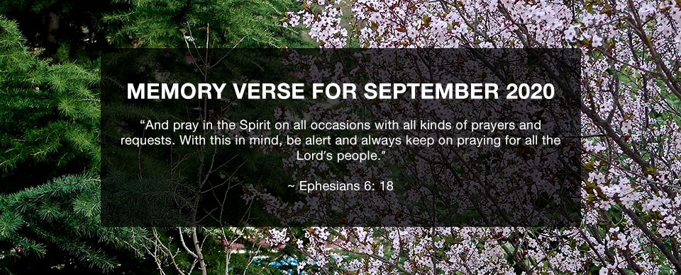 Church in Singapore Memory Verse for September 2020